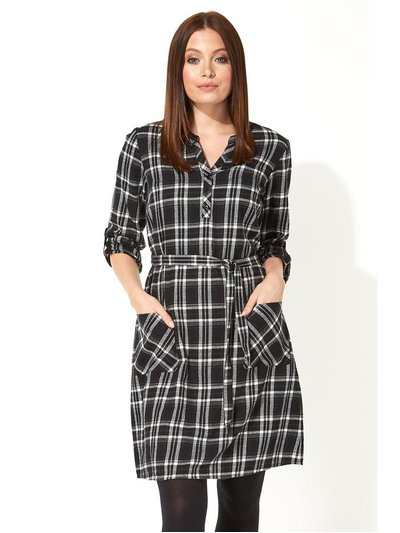 Roman Originals check belted shirt dress
