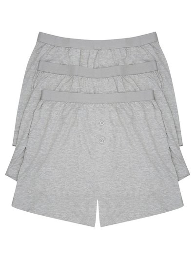 Cotton jersey grey boxers three pack