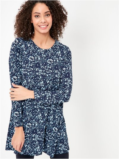 Petite floral tunic dress