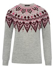 Embellished fairisle jumper