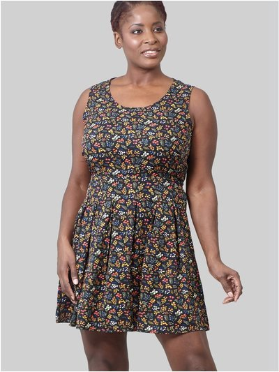 Izabel Curve ditsy floral skater dress