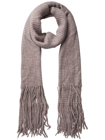 Pieces striped tassel scarf