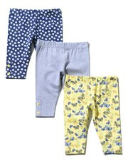 Floral butterfly leggings three pack (0 mths - 4 yrs)