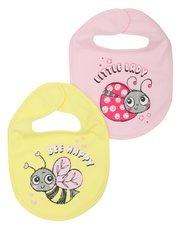Bee and ladybird bibs two pack