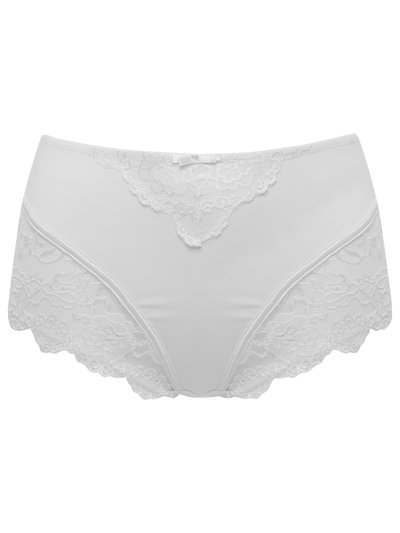 Lace trim high waist medium control briefs