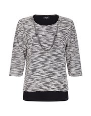 TIGI dual layer top with necklace