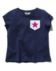 Two way sequin star t-shirt