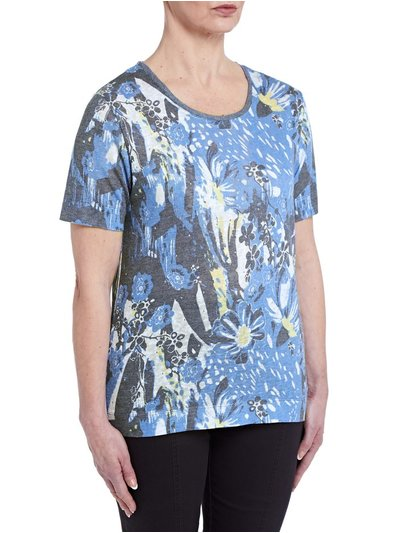 TIGI abstract print t-shirt
