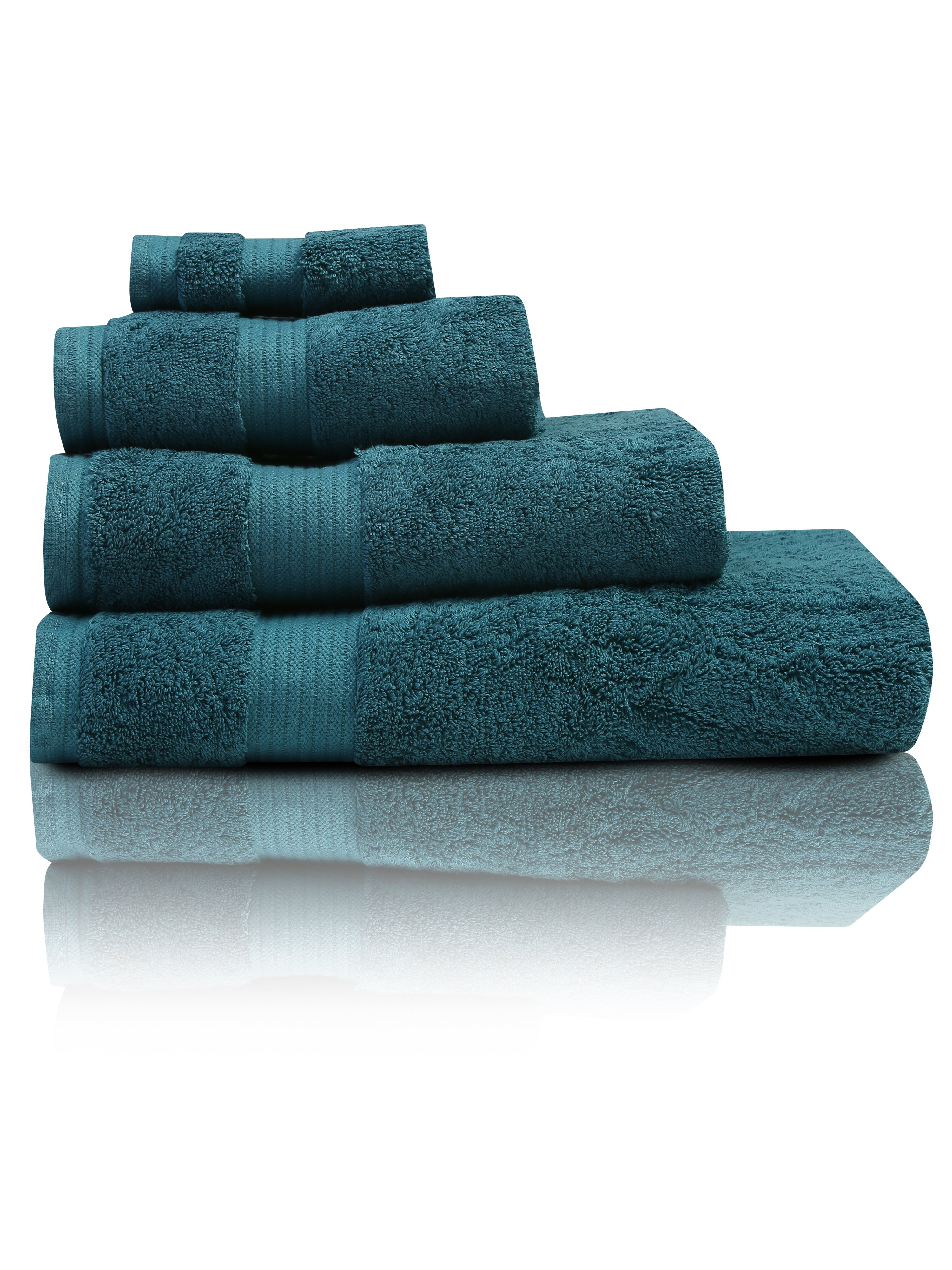 Teal Combed Cotton Towels