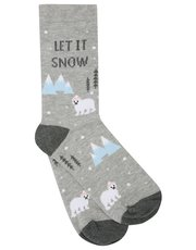 Let It Snow polar bear socks