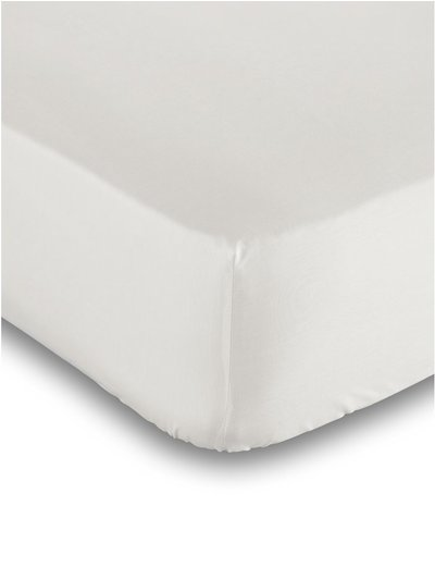 Pure cotton cream deep fitted sheet