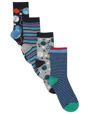 Space socks four pack