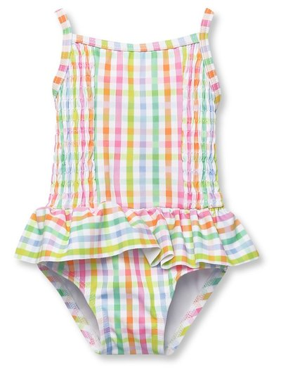 Gingham frill swimsuit (3mths-5yrs)