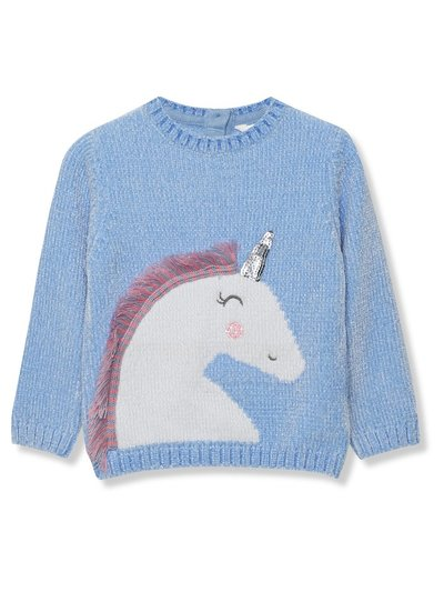 Chenille unicorn jumper (9mths-5yrs)