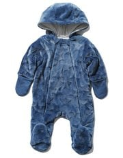 Star embossed pramsuit