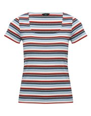 Petite ribbed stripe t-shirt