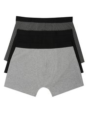 Cotton grey trunks three pack