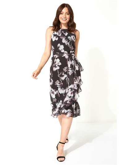 Roman Originals halter neck floral frill dress
