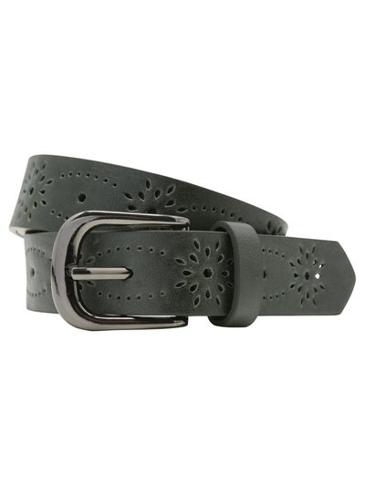 Khaki cutwork belt
