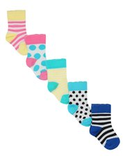 Spot and stripe socks five pack