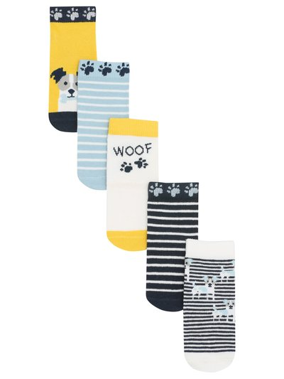 Puppy stripe socks five pack