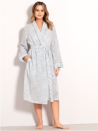 Floral stripe dressing gown