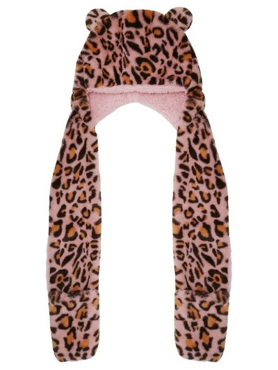 Leopard hooded scarf