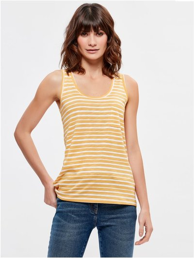 Stripe pocket vest top