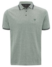 Green short sleeve polo shirt