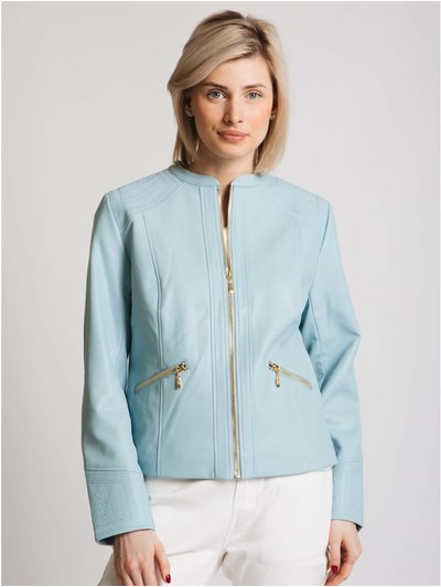 Jessica Graaf pu jacket with embroidery