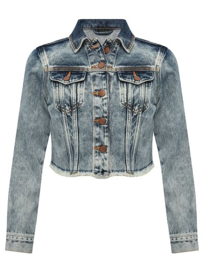 Teen cropped denim jacket