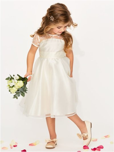 Lace insert bridesmaid dress (3-12yrs)