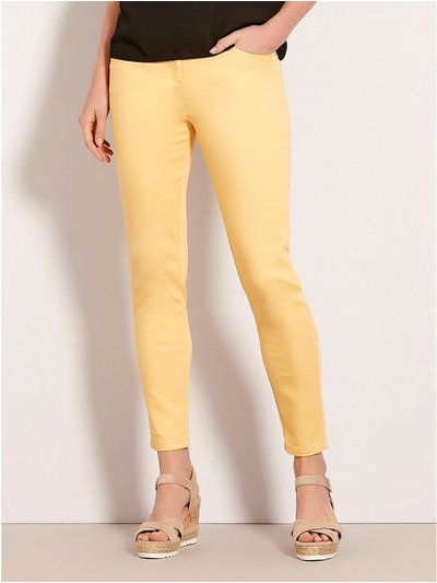 Yellow twill trousers