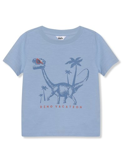 Dino vacation slogan tee (9mths-5yrs)