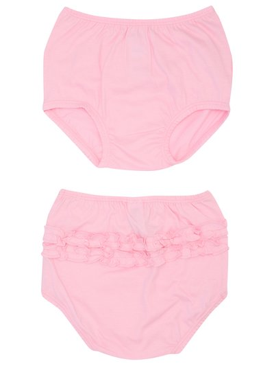 Pink frill knickers two pack (0-24mths)
