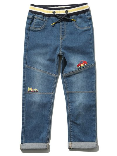 Car embroidered jeans (9 mths - 5 yrs)