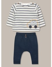 Striped t-shirt and trouser set (newborn-18mths)