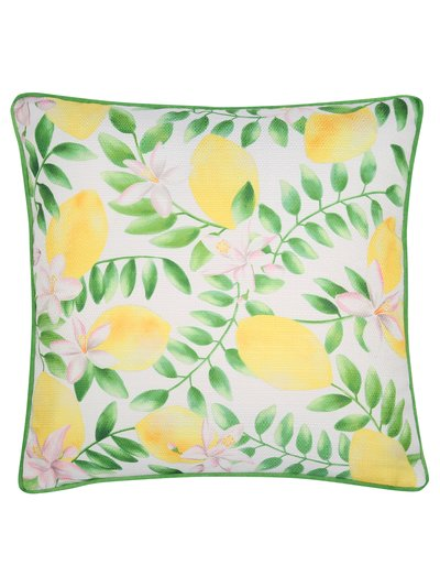 Lemon print cushion