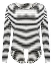 Stripe knot back jumper