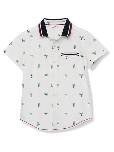 Palm print polo collar shirt (3-13yrs)