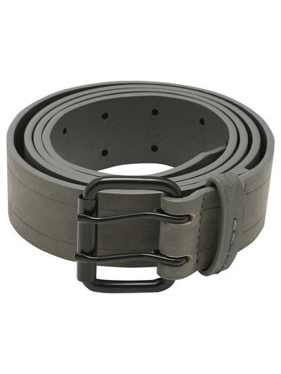 Grey double prong belt