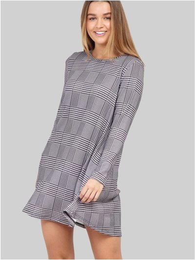 Izabel checked swing dress