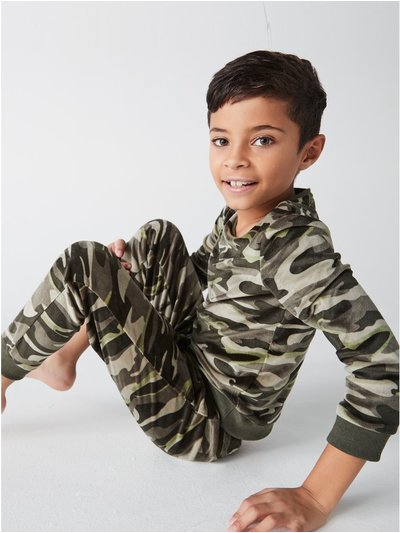 Camo fleece pyjama set (4-12yrs)