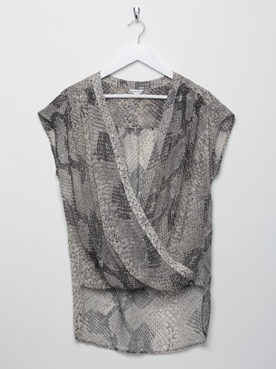 Sonder Studio snake print cross front top