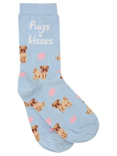 Teen Pugs and kisses socks