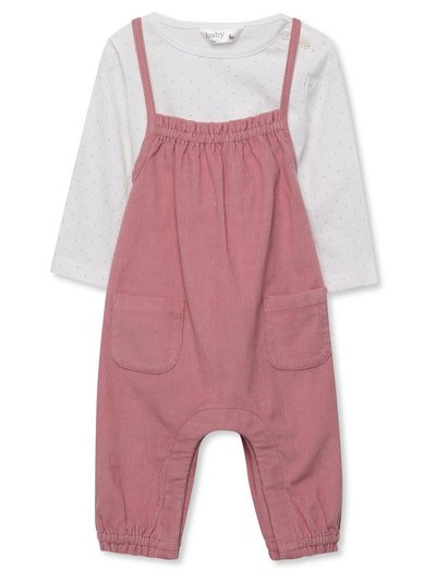 Strappy dungaree and t-shirt set (newborn-18mnths)