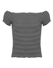 Teen striped bardot top
