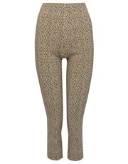 Animal print cropped stretch trousers