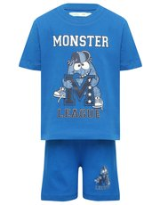 Monster league slogan pyjama set
