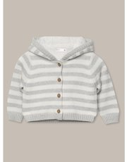 Striped fleece cardigan (Newborn-18mths)